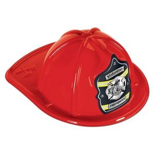 Red Plastic Volunteer Firefighter Hats (CLEARANCE)
