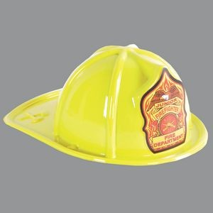 Yellow Plastic Jr Firefighter Fire Department Hat (CLEARANCE)