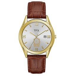 Men's TFX Watch by Bulova (Brown/Gold)